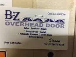 b z overhead door 11 reviews garage door services sacramento ca phone number yelp