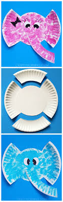 art and craft ideas for toddlers pinterest. paper plate elephant kids craft art and ideas for toddlers pinterest c