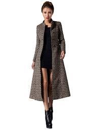 plus size retro style stand collar midi pea coat with belt