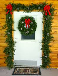 N Garland And Wreath Door Decorations Set