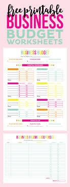 Budget Worksheets Free Printable Business Budget Worksheets Printable Crush