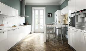 White Gloss Kitchen Worktop Avant White Contemporary Gloss Kitchen