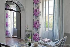 Purple Living Room Curtains Spring Flower Wall Beautiful Curtains For Living Room Purple Color