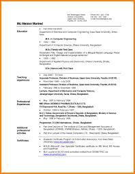 10 Biodata Format For Teaching Job Job Apply Letter