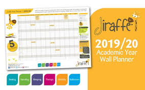 Free Jiraffe Academic Year Wall Planner 2019 20 Jiraffe