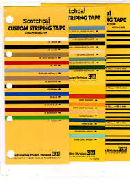 Scotchcal Striping Tape Chart Details About Scotchcal Custom Striping Tape Color Chart Chart Guide