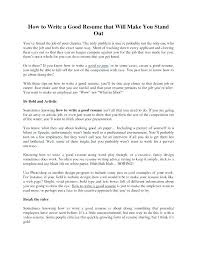 Stand Out Resume Templates Simple Good Resumes Templates Resume Templates That Stand Out Awesome Make