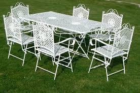 white iron garden furniture. White Metal Garden Furniture Cast Iron Set Chairs . O