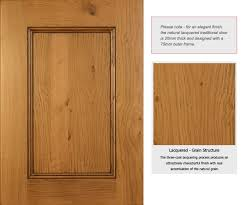 a classic unpainted finish that allows your door to meld seamlessly with the cabinet