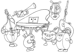 Small Picture Music coloring pages music instruments ColoringStar