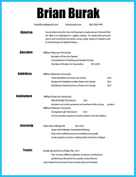 Template Artist Resume Template That Look Professional Free Co Art