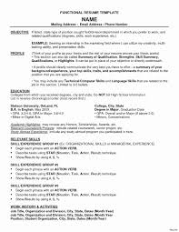 Functional Resume Template Fresh Blank Resume Template Pdf Fresh