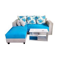 Aldi Furniture Minimalis Sofa L Bed  Biru Jabodetabek