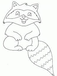 Print Coloring Page And Book Raccoon