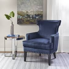 blue wingback chair. Madison Park Melody Blue Accent Chair Wingback
