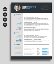 Resume Free Templates Word Free MsWord Resume and CV Template Free Design Resources 1