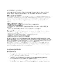 Resume Objectives For General Job Resume Objectives For General Job