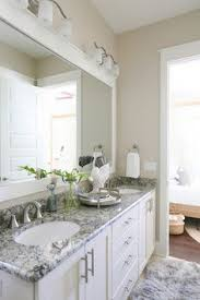 white bathroom cabinets with granite. Beach Cottage With Small Neutral Coastal Interiors (Home Bunch - An Interior Design \u0026 Luxury Homes Blog). Bathroom Wall ColorsBathroom IdeasDover White Cabinets Granite T