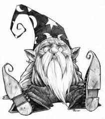 Image result for cartoon illustration of mean gnome