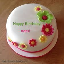 Colorful Flowers Birthday Cake For Mansi