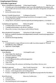 Otago Resume Employment History Great Professional Resume Resume