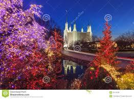 Mormon Tabernacle Washington Dc Christmas Lights Holiday Lights At Washington Dc Lds Mormon Temple Stock