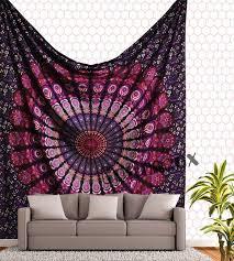 indian mandala tapestry hippie wall hanging blue bohemian