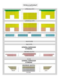 Wellmont Theater Seating Chart Golden Circle Seating Chart The Wellmont Theater