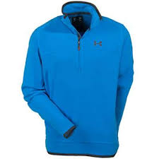 under armour zip up. under armour shirts: men\u0027s st. tropez blue 1231185-485 furrow 1/4 zip up u