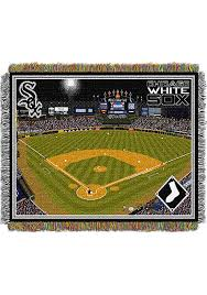 chicago white sox 48x60 cellular field stadium tapestry blanket image 1