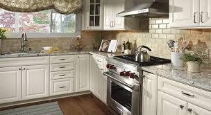 white cabinets and granite countertops. Endearing Countertops For White Kitchen Cabinets And Decor On Granite