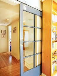 modern glass barn door. Modern Glass Barn Sliding Door With White-colored Frame