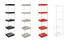 white and glass shelving units ikea furniture
