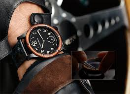 men s automotive collection watch boutique ralphlauren com skeleton watch burl wood bezel and exposed movement