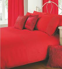 red colour plain duvet cover microfiber embossed design bedding set 8410 p jpg