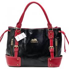 Coach Smooth Logo Medium Red Satchels BNY