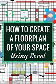 how to create a floorplan of your space using excel in this tutorial learn
