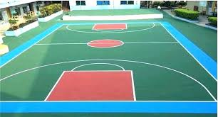 basketball court paint template painting an outdoor concrete l cost before and after a basketball court painters outdoor