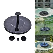 solar powered pond fountain floating water pump solar panel garden plants watering power fountain landscape decoration