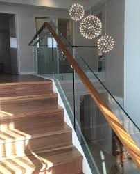 timber handrail and glass barade in coogee wa
