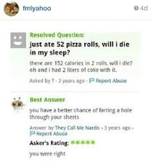 funny yahoo answers yahoo answers funny stupid yahoo questions have a laugh pizza