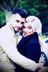 Lovely Couple Photo Hijab For Lovely Her Beard For Handsome Him Custom Lovely Couples In Love