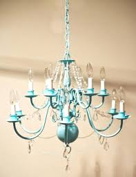 colored chandeliers