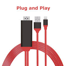 consumer electronics accessories parts digital cables hdmi cables plug play cable 2m usb 8 pin for lightning ios 11 to hdmi hdtv av adapter