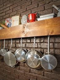 diy kitchen storage shelf and pot rack