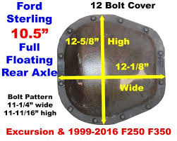 1999 2016 Ford Sterling Rear Axle Identification Ford Rear