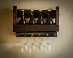 Direct Pallet Wood Wine Rack Glass Holder Mounted Www