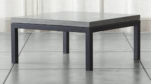 square table top view. Parsons Concrete Top/ Dark Steel Base 36x36 Square Coffee Table + Reviews | Crate And Barrel Top View
