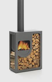 view in gallery metal fire pit stove with wood storage spot