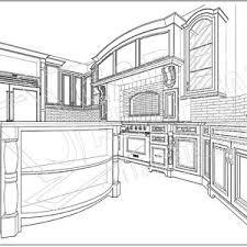 autocad kitchen design.  Autocad Finest Autocad Kitchen Design Drawing With O